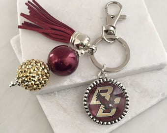 Boston College Key Chain, Boston College Eagles, Boston College Gifts, Boston Key Chain, Maroon and Gold, Boston College Eagles Key Chain