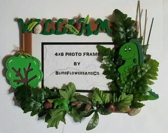 Dinosaur Picture Frame - Personalized