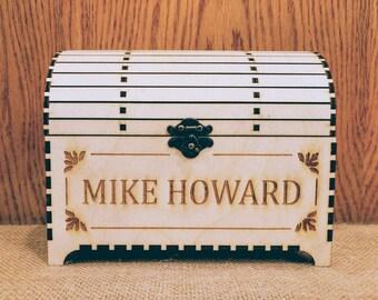Wood Treasure Box, jewelry box, Unfinished