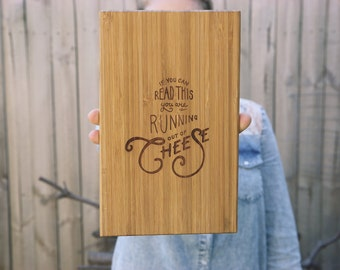 Cheese Board Laser Engraved | Serving Platter | Bread Board | Cheese Plate
