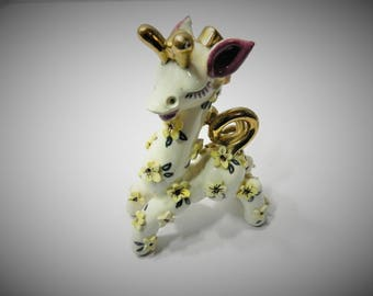 Vintage Copa de Oro Ceramic Fantasy Giraffe Figurine -1946