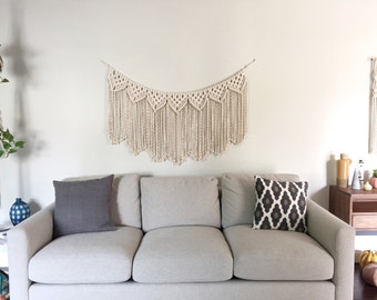 Macrame Patterns/Macrame Pattern/Large Macrame Wall Hanging Pattern/Modern Macrame/Garland/Name: Reverse Clove Hitch Triangle Garland