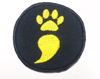 Semicolon Project Paw Print Sew on Patch 2""