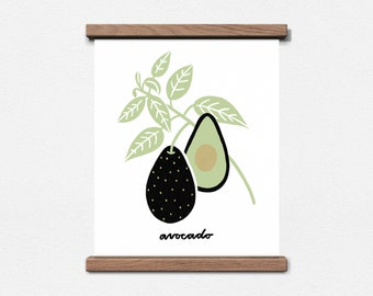 Avocado Botanical 8 x 10 Screen Print