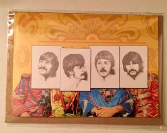 The Beatles. Greeting card for birthdays or any occasion. Perfect for any Beatles fan.