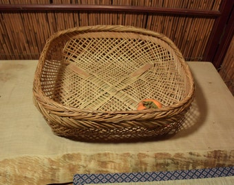 Large Chinese Square Bamboo Basket