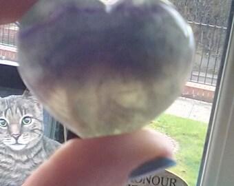 Beautiful Rainbow Fluorite heart
