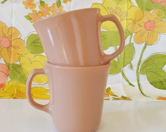 Set of 2 Pyrex Tan Mugs