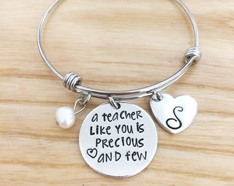 Teacher Gifts - Teacher appreciation gift - Teacher Gifts Personalized - Teacher Gift Ideas - Hand Stamped Jewelry Bracelet - Custom Jewelry