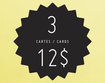 ANY 3 cards of your choice! YAY!