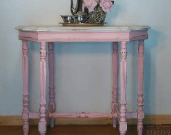Pretty in Pink Parlor Table