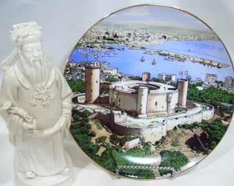 RARE Bellver Castle Very Limited Edition,Souvenir Travel Plate,World Wide Line,Barry Chase,Herb Levy,Bill Synder