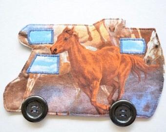 Horse coaster, Motorhome drinkmat, RV mug rug, horse decor, Gift for him, equestrian gift