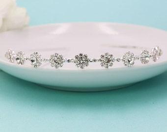 Rhinestone Crystal flower girl headpiece, wedding tiara, wedding headpiece, rhinestone tiara, rhinestone, first communion tiara 228542696