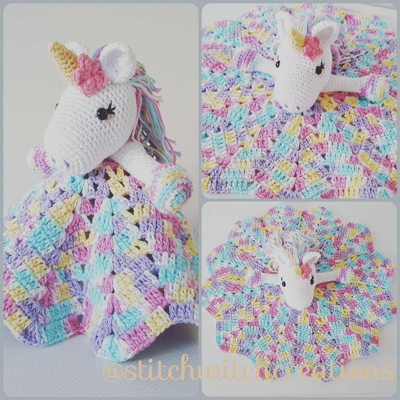 Lavender Unicorn Snuggle Blanket - PDF Crochet Pattern