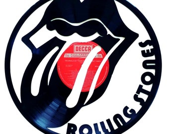 Rolling Stones Vinyl Record Art