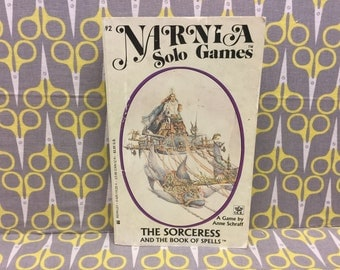 The Sorceress and The Book of Spells by Anne Schraff paperback book vintage Narnia Solo Games #2