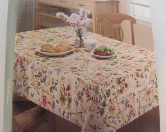 Table  Cloth - 60'' x 102'' - Spring colors - Flowers - unused item