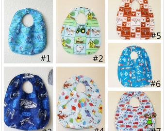 Pick any 2 bibs of your choice! , Baby boy bib, Toddler boy bib, also good for girls too:)