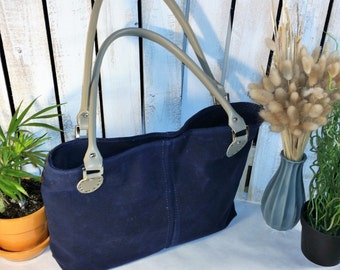 Waxed Canvas Handbag Purse Satchel Diaper Bag