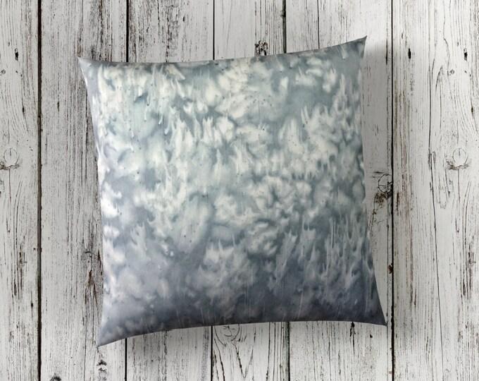 Gray Pillow 18x18-Watercolor Silk Pillow-Neutral Nursery Decor-Boho Decor-Bohemian Decor-Home Decor Gifts-Spring Decor-Watercolor Home Decor