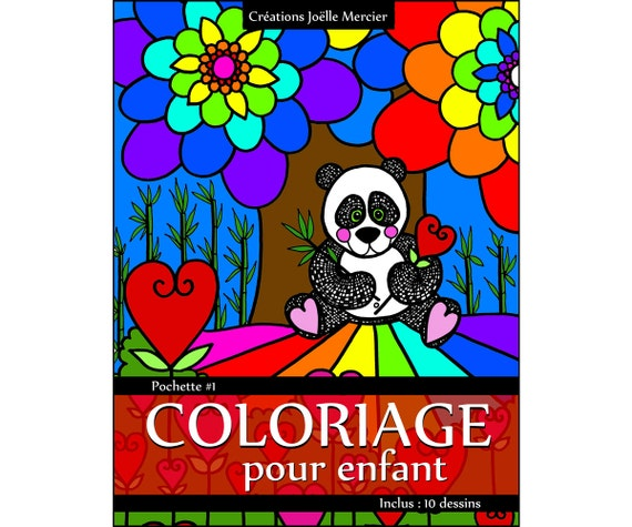 pochette coloriage pour enfant 10 dessins panda chats. Black Bedroom Furniture Sets. Home Design Ideas