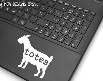 Totes Ma'goats VINYL DECAL White