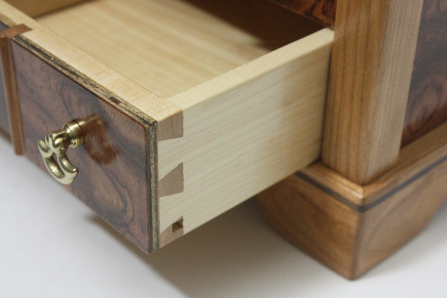 Handmade Box with Locking Maple Dovetail Drawer