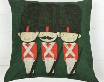 London England Guard at Night - Pillow Cover