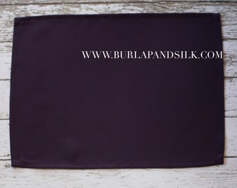Plum Placemat | Plum Linen Placemats, Dark Purple Placemats, Eggplant Fabric Placemats for Weddings, Hotels, Catering Events and Restaurants