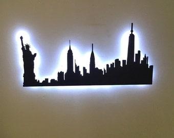 New York City LED City Skyline
