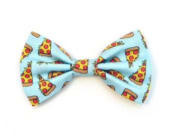 The Troy Bow Tie — Dog Bowtie, Made in Brooklyn, Bowtied, Pizza, Food, Blue, Ring Bearer, Clothes