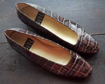 Vintage women's leather Nine West heeled shoes Size 6 1/2