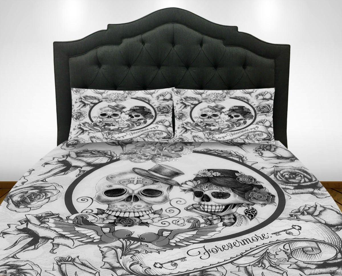 Skull Bedroom Skull Comforter Etsy