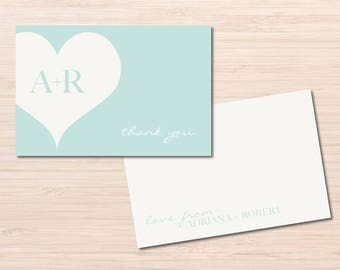 Heart Cards ~ Thank You Card ~ Thank You Notes ~ Wedding Notes ~ Printable Card ~ Printable Thank You Cards ~ Engagement Thank You Cards
