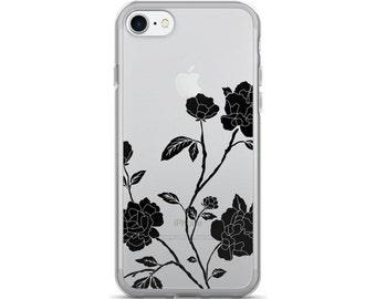 Rose iPhone 7 Case • Black Lace iPhone Case • Cute iPhone 6 Case • Lacey iPhone Case • Women's iPhone Case ««« PF00 «