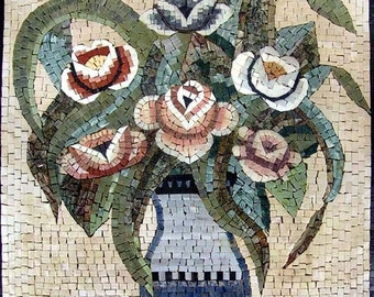 The Rose Flower Bouquet Mosaic