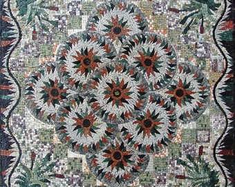 Geometric Flower Mosaic - Priscilla