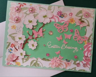 Butterfly Easter Blessing Card