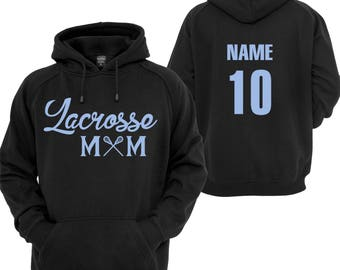 Lacrosse Mom Dad Hoody Personalized Custom Soccer Basketball Football Baseball Hockey Cheer Track Swim Lacrosse Tennis Softball Golf