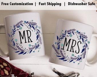 mr mrs coffee mugs, Couples mug sets, engagement mug set, couples mug, engagement gift mug, engagement mug gift, engagement gift mugs - HHM1
