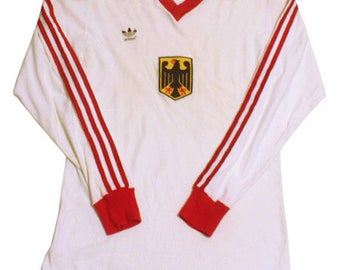 70's vintage adidas west-germany national team football shirts made in West germany