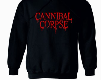 Cannibal Corpse Hoodie New Black Hooded Sweatshirt Pullover S M L XL 2XL Sweater Death Metal Grindcore Band Morbid Angel Suffocation