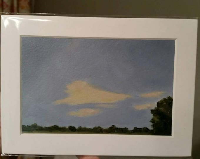 Break In The Clouds - Oil On Paper