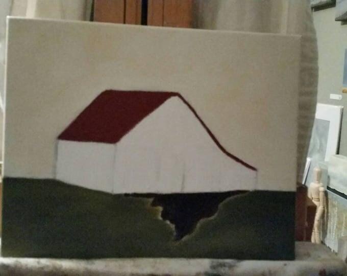 Barn - Work In Progress - Oil Painting