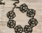 Chico's Vintage Bronze Linked Adjustable Chain Belt. A gift for her.