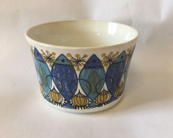 Vtg Turi Design Figgjo Flint Norway Clupea pattern Small bowl, retro kitchen, Scandinavian design, Norsk Norge