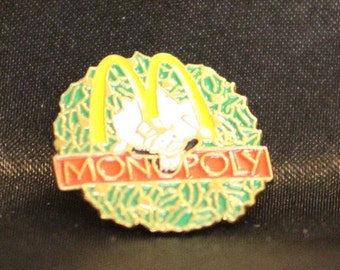 Vintage McDonalds Monoply Game Pin Tac Pin 1995 Tonka Corp