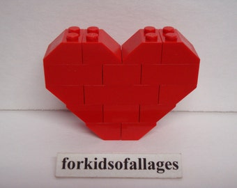 Custom Built Lego Heart (Red) Valentine's Day Gift / Wedding / Anniversary