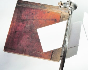 Paper Cutter / Smaller Size Vintage Wood and Iron / Beautiful and Useful / Cool old Studio Piece